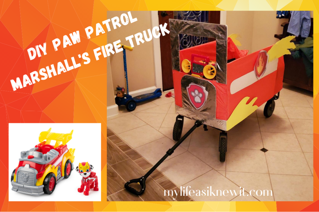 Diy Paw Patrol Fire Truck For Marshall Costume My Life As I Knew It